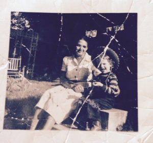 """Delia """"Dee Dee"""" Katz and the author's mother, Mildred Amer, photographed around 1950. Photo courtesy of Mildred Amer."""
